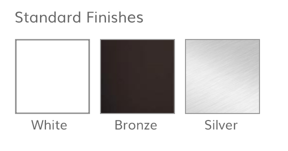 Standard finishes